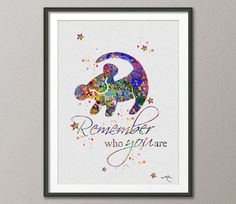 The Lion King Simba Quote 4 Watercolor Art Print  Wall Art Home Decor Giclee Inspirational Art Home Decor Wall Hanging [NO 353]