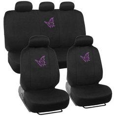 BDK Purple Butterfly Design Car Seat Covers, Full Set, 9 Piece - Walmart.com