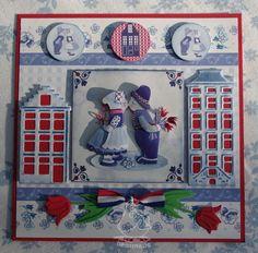 3d Cards, Pop Up Cards, Dutch Tulip, Wind Of Change, Marianne Design, Shaker Cards, Holland, Netherlands, 3 D