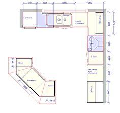 Výsledek obrázku pro kitchen floor plans