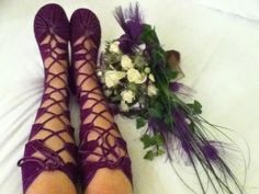 Brilliant purple suede boots by our good friends at Medieval Moccasins.