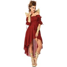 5cef1fcd5c79 Inked Boutique - Leg Avenue Gauze Peasant Dress Burgundy Sexy Off Shoulder  Hi Low Halloween -