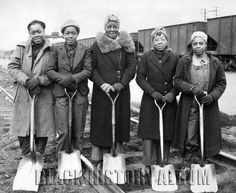 A group of African American women employed by the Baltimore & Ohio Railroad Company, 1943. U.S. National Archives  Find Us On Twitter | Facebook | Tumblr