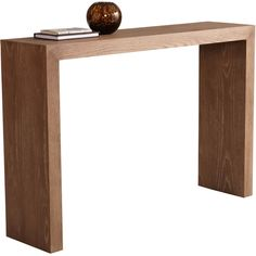 A squared design lends modern flair to this handsome Arch console table. Crafted with a wood and veneer blend, this eye-catchingly simple table comes in several colors and is ideal for displaying your favorite decorative accents.