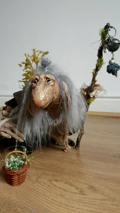 "CUSTOM - Extra Large OOAK Fantasy Fae Poseable Art Doll Character (The Dark Crystal)_18X18"" $541.54"
