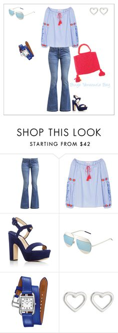 """Outfit para Bige"" by karin-rangel ❤ liked on Polyvore featuring Current/Elliott, Tory Burch, Paul Andrew, Christian Dior, Hermès and Marc by Marc Jacobs"