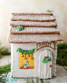 Gingerbread House Bakery,  part of the Victorian London Gingerbread street scene.