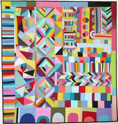 Lu Summers finished quilt via the red thread