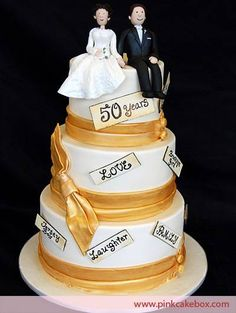 50th Anniversary Cakes Galleries