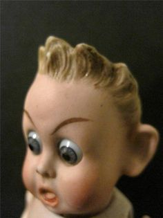 ANTIQUE RARE BISQUE CHARACTER BOY DOLL Scared EXPRESSION #898 DEP German French