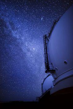 Philip Rosenberg, Keck Observatories and Milky Way, Mauna Kea, Hawaii  25 second exposure, Nikon D3, 24mm ƒ1.4 lens.