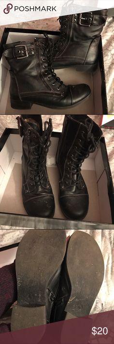 Guess combat boots. Black combat boots. Guess Shoes Combat & Moto Boots