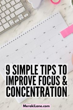 9 Tips to Improve Focus & Concentration | If you struggle to stay focused and want to know how to stay on task without getting distracted, these productivity tips and hacks will help. Whether you're working from home and need tips to shut off distractions, or you're on the hunt for habits to help you stay focused at work when the urge to socialize is high, there are so many little things you can do to stay motivated and present so you can be your most productive self! Focus At Work, To Focus, Stay Focused, How To Stay Motivated, Make You Feel, How Are You Feeling, Hard To Concentrate, Email Programs, Getting Back In Shape