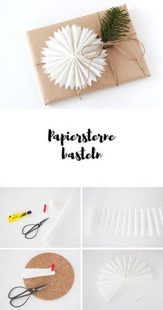 Papiersterne basteln - Weihnachtliche Sterne aus Brotpapier Christmas Time, Christmas Crafts, Christmas Decorations, Wrapping Gift, Birthday Rewards, Diy And Crafts, Paper Crafts, Holiday Break, Inexpensive Gift