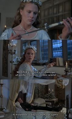 """""""There's a shortage of perfect breasts in this world."""" (The Princess Bride) one of my favorite lines!"""