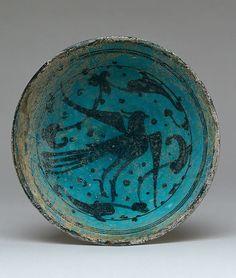 Bowl Date: late 12th–first half 13th century Geography: Syria, Raqqa Culture: Islamic Medium: Stonepaste; underglaze painted