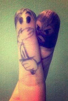 Aggressive fingers...