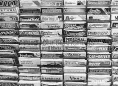 Magazine Rack, NYew York City, 1985  © Bedrich Grunzweig Photo Archive