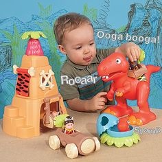 Toy Dinosaur, Dinosaur Play Set, Toddler Toy-One Step Ahead Baby. For Thomas and Daniel?