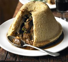 A steak and ale pudding made with suet pastry is often found on pub menus, but now we show you how easy it is to make at home. Use ale or Guinness for a rich, deep flavour for the steak and mushrooms. Wild Game Recipes, Bbc Good Food Recipes, Cooking Recipes, Deer Recipes, Uk Recipes, Yummy Food, Easy Cooking, Fish Recipes, Steak And Mushrooms