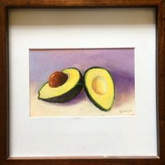 avocados by Takeyce Walter framed