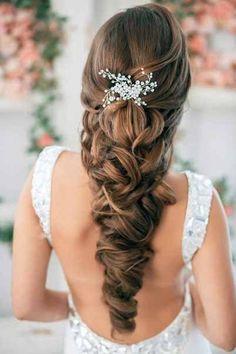 swarovski Bridal Crystal Pearl Wedding Proms Hair Vine Comb Pin Headpiece Bridal Hair style