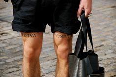 F U E R Z A  y  V A L O R    inspiration   leg      tattoo