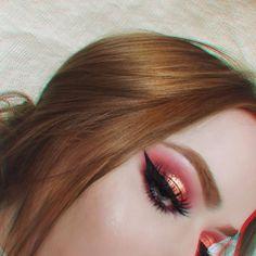 Red and Pink Eye Shadow Makeup Goals, Makeup Inspo, Makeup Inspiration, Makeup Tips, Beauty Makeup, Hair Beauty, Makeup Art, Beautiful Eye Makeup, Beautiful Eyes