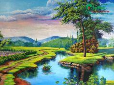 Tranh tường 3D vẽ phong cảnh tại Xuân Mai - Hà Nội 3