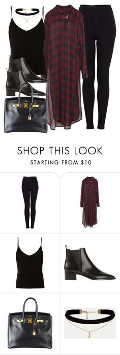 """""""Style #11108"""" by vany-alvarado ❤ liked on Polyvore featuring Topshop, Zara, T By Alexander Wang, Acne Studios, Hermès and ASOS"""