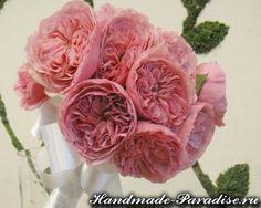 Английская роза Дэвида Остина из ткани. МК — HandMade