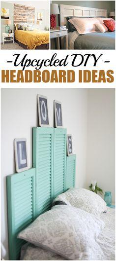 Upcycled DIY Headboard Ideas #diy #headboard