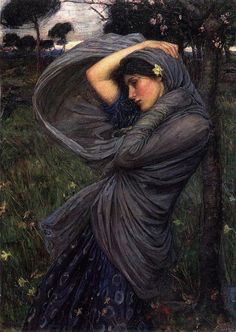 Boreas - John William Waterhouse, 1903, oil on canvas, private collection