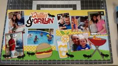 Labor day BBQ,  Out on a limb scrapbooking kit,