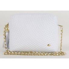 Bally White Quilted Leather Vintage Crossbody Bag