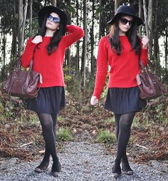 Red Fall... (by Alba .) http://lookbook.nu/look/2672693-Red-Fall
