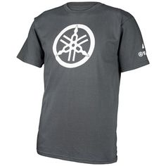 The Yamaha Colab Tee by ONE Industries® features: Large white Tuning Fork on front ONE Industries® logos on sleeve Charcoal gray Yamaha