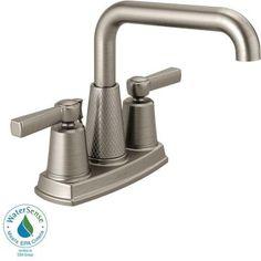 Delta Allentown 4 in. Centerset 2-Handle Bathroom Faucet in SpotShield Brushed Nickel-25743LF-SP - The Home Depot