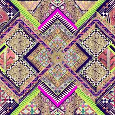 Neon tribal prints inspiration #HarrodsInsideTheStudio with Matthew Williamson harrods.com