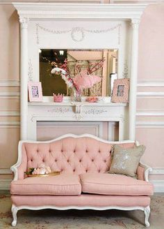 Darling pink sofa