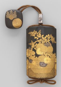 LACQUER INRO ENSEMBLE with OJIME and NETSUKE