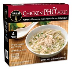 Frozen snacks and meals for every day and any occasion! Www.cuisineadventures foods.com Frozen pho soup that comes in a microwaveable bowl