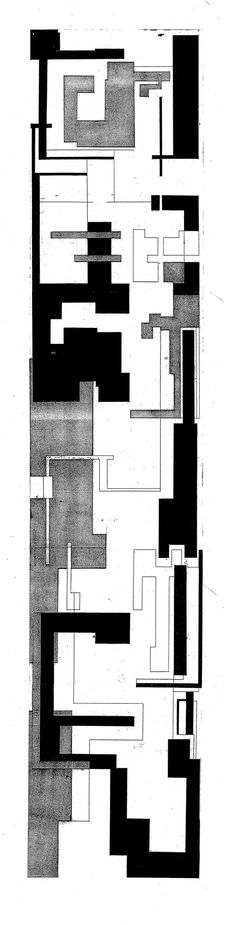 Title : Composition Drawing  Inspired by Thermal Bath by Peter Zumthor