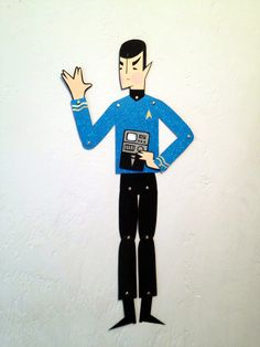Star Trek Spock - articulated paper doll. By LeaseAPenny - Etsy