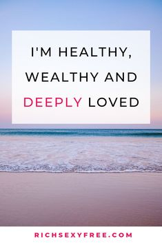 Im Healthy Wealthy Deeply Loved Prosperity Affirmations, I Am Affirmations, Daily Positive Affirmations, Positive Mindset, Positive Thoughts, Positive Quotes, Motivational Quotes, Inspirational Quotes, Law Of Attraction Affirmations