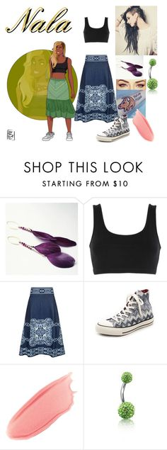 """""""Disney Gone College - NALA"""" by blackest-raven ❤ liked on Polyvore featuring Artique Boutique, Disney, adidas Originals, Maje, Converse, Stila and Bling Jewelry"""