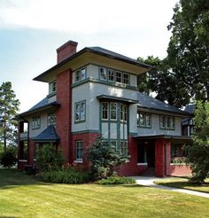 Prairie Style house in Rockford, Illinois.