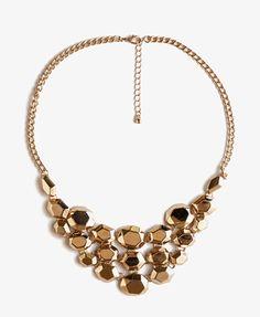 Faceted Metal Bib Necklace | FOREVER21 - 1036896915