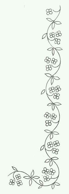 tattoo down spine, arm or waist. or like a belt flower border id… tattoo down spine, arm or waist. or like a belt flower border idea Ribbon Embroidery, Cross Stitch Embroidery, Embroidery Tattoo, Simple Embroidery, Lace Ribbon, Vintage Embroidery, Machine Quilting, Machine Embroidery, Quilting Designs