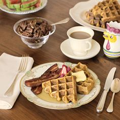 spice waffles with gorgeous color. Serve with butter, warm maple syrup ...